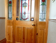 Bespoke Stained Glass Door
