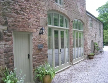Two pairs of Arched Top French Doors