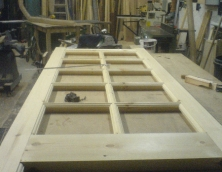 Ten pane softwood door