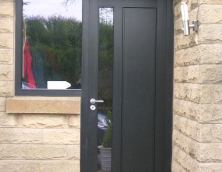 Black Combination Door and Frame