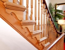Decorative string on a bespoke staircase