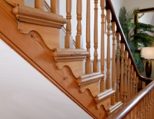 Decorative treads on a bespoke staircase