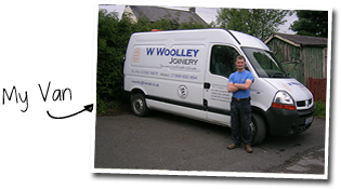 The van of W Woolley Joinery, a Buxton joiner and carpenter